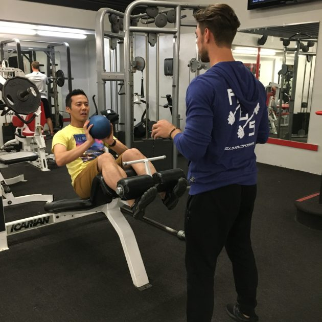Alex Bukalo Training Man at a Gym